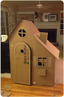 casa de carton para niños