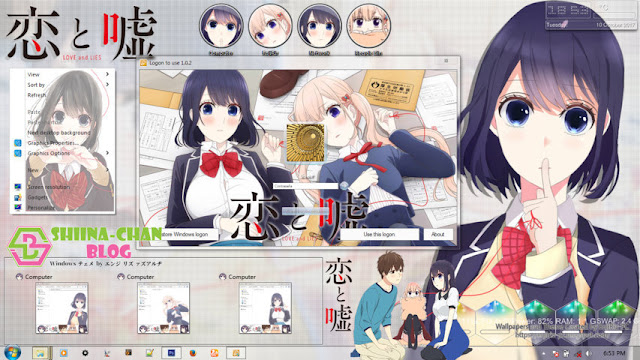 Koi to Uso Theme Win 7 by Enji Riz Lazuardi