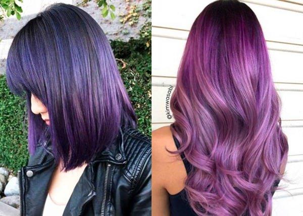 Beliebte Lila Haarfarben