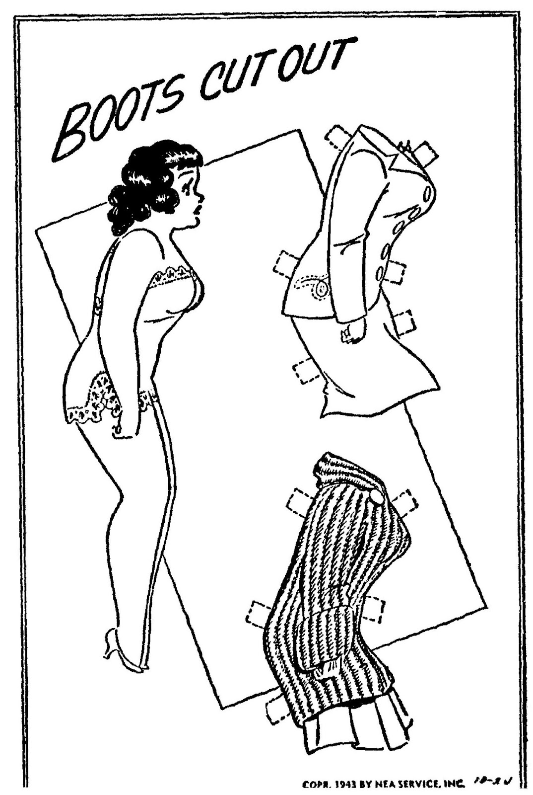 Mostly Paper Dolls Too!: BABE Paper Dolls from October 1943