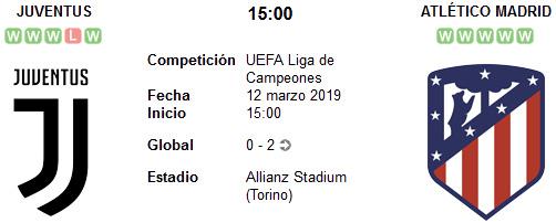 Juventus vs Atlético de Madrid en VIVO