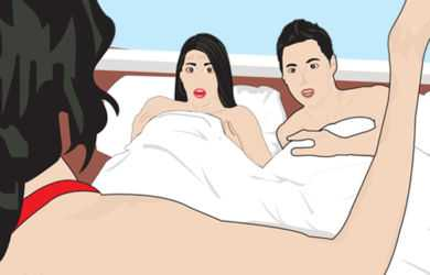 Istri Intip Suaminya dalam Kamar, Eh Lagi Bobo Bareng sama Dosen Cantik