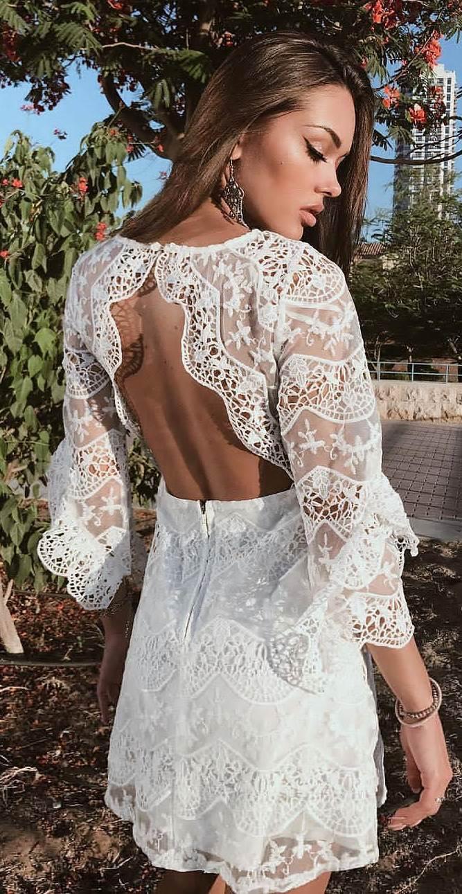 beautiful white lacer dress