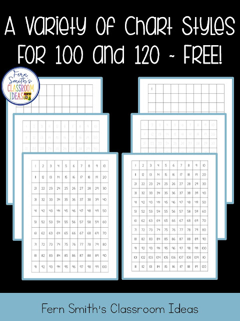 image relating to Free Printable 120 Chart named Ferns Freebie Friday ~ 100 Chart and 120 Chart Freebie