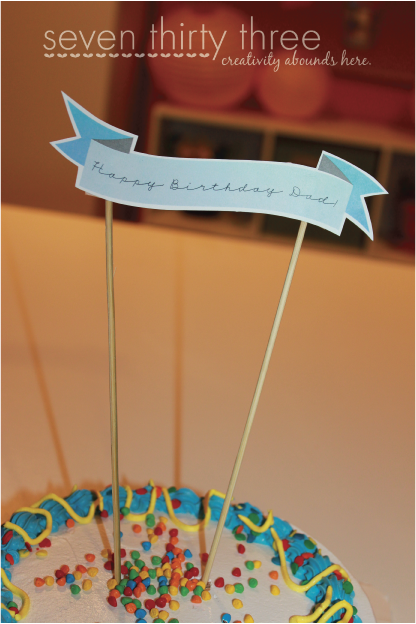 Admirable Happy Birthday Cake Topper Free Printable Inspiration Made Simple Funny Birthday Cards Online Barepcheapnameinfo