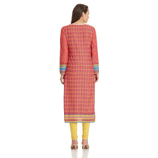 Cashback on Pink Rangriti Kurta by FashionDiya