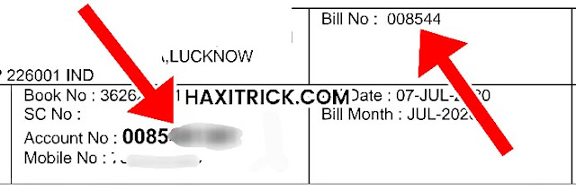 Account Number and Bill Number