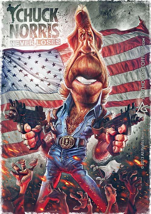 """""""Chuck Norris"""" por Anthony Geoffroy"""