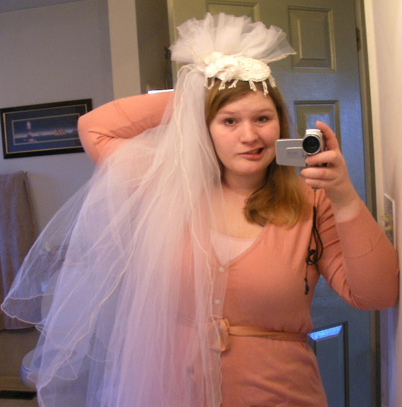 Old Ugly Wedding Dresses: Repurpose Two Old Veils!