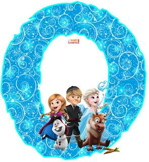 Alfabeto de Frozen con los Personajes.