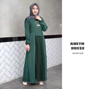 Gamis Dress Aneth Emerald