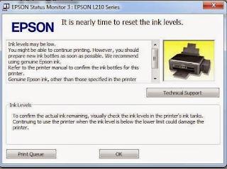 2 Cara Reset Printer Epson L210 Tanpa dan Dengan Aplikasi