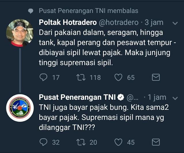 Keren, TNI Bantah Tuduhan Ahoker