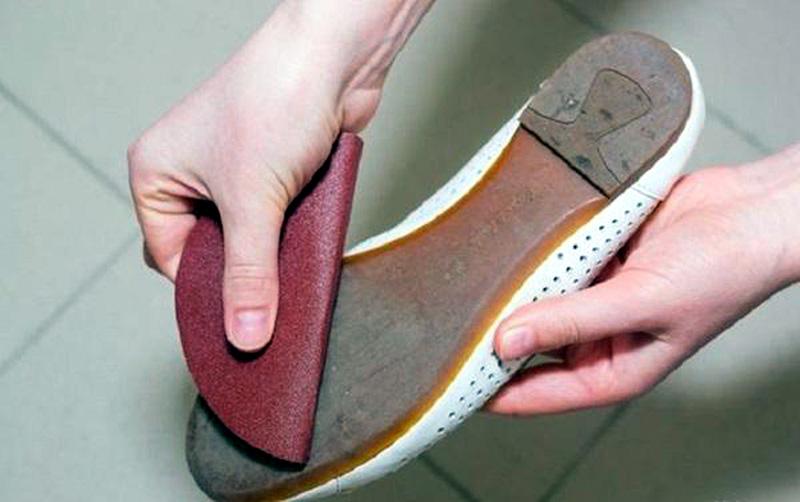 Sandpaper your soles
