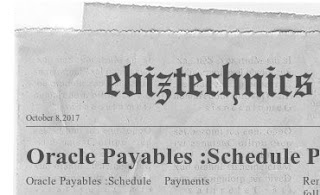 Oracle Payables :Schedule Payments