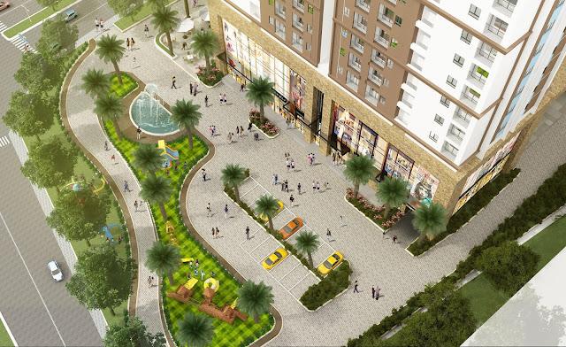 Khuôn viên thông thoáng và được trồng nhiều cây xanh
