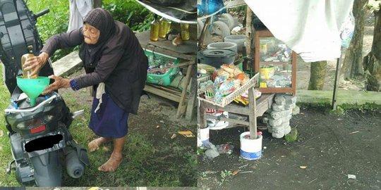 Nenek Kemi Penjaga Warung Penjual Bensin yang Sering Ditipu Orang