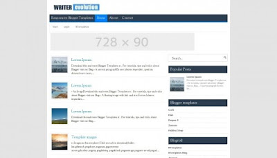 Writer Evolution - Template SEO Friendly Simple Minimalis