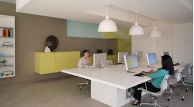 model tempat kerja minimalis