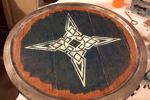 Skyrim shield dawnstar emblem painted