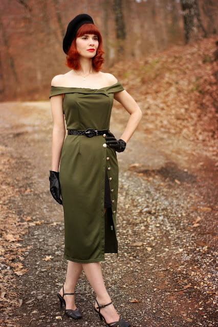 Dropship-Clothes Military Pencil Dress