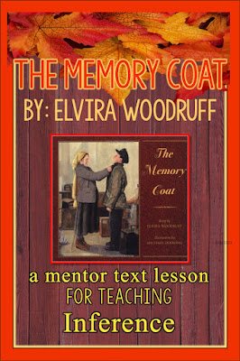 Learn reading strategies for making inferences through mentor text. I've provided free lessons for the book The Memory Coat.