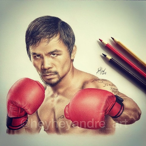 06-Manny-Pacquiao-André-Manguba-Celebrities-Drawn-and-Colored-in-with-Pencils-www-designstack-co