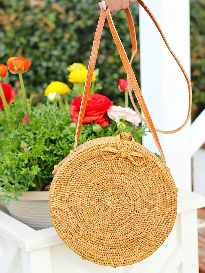 Rattan Circle Crossbody Bag, Straw Circle Bag, Rattan Bag For Summer, Bali Rattan Bag