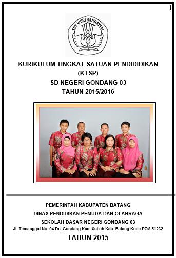 Download Contoh Dokumen KTSP SD Terbaru Tahun 2017