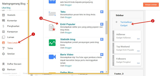Membuat Widget Popular Post Keren Ala Maringngerrang Blog