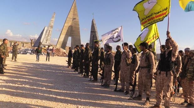 عاصمة الداعش بين فكي كماشة قوات سوريا الديمقراطية والطائرات الامريكية