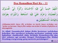 Doa Harian Ramadhan Hari 11-20