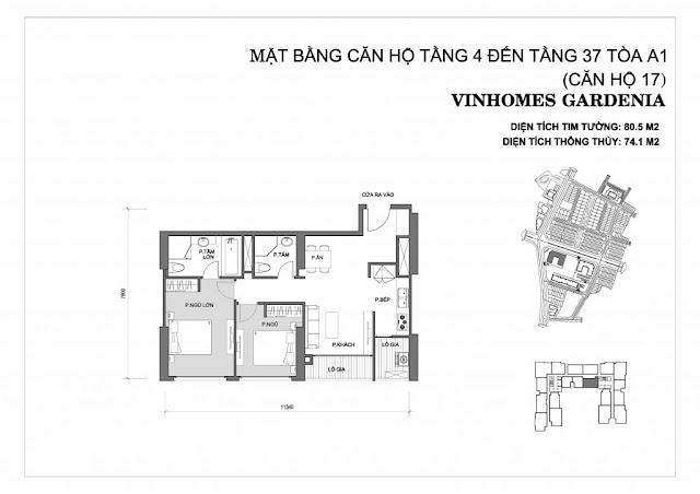 17 - Tòa A1 Vinhomes Gardenia