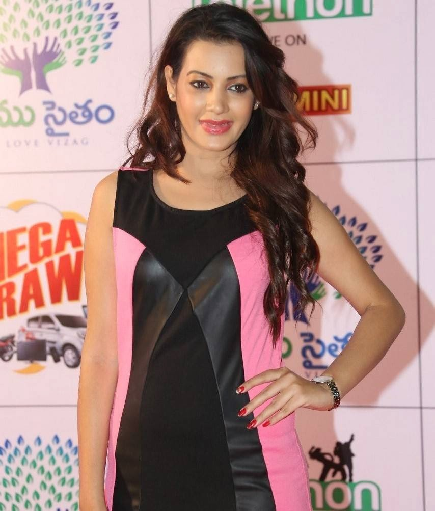 Deeksha Panth Pictures, Deeksha Panth Hot HD Pics in Pink Dress