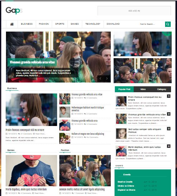Gaps - Responsive Blogger Template untuk Majalah Berita Online