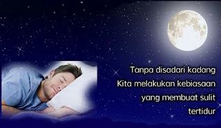 Kebiasaan buruk sebelum tidur