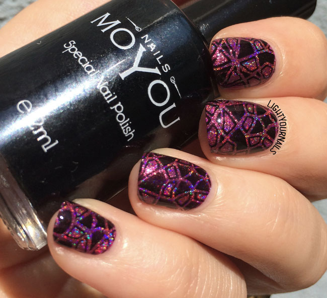 abstract stamping nailart