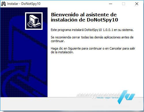 DoNotSpy10 y Destroy Spying Privacidad Window 10