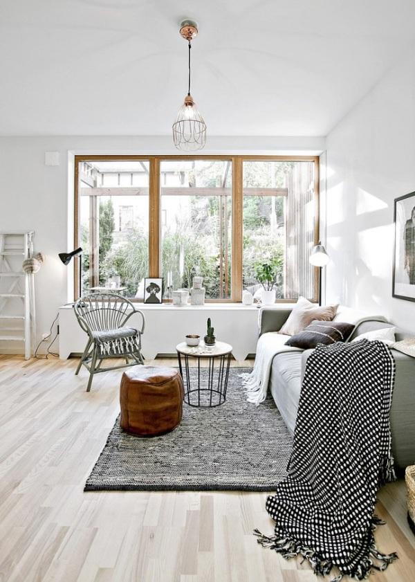 Piccoli spazi stile scandinavo versione mini 34mq con for Casa interni