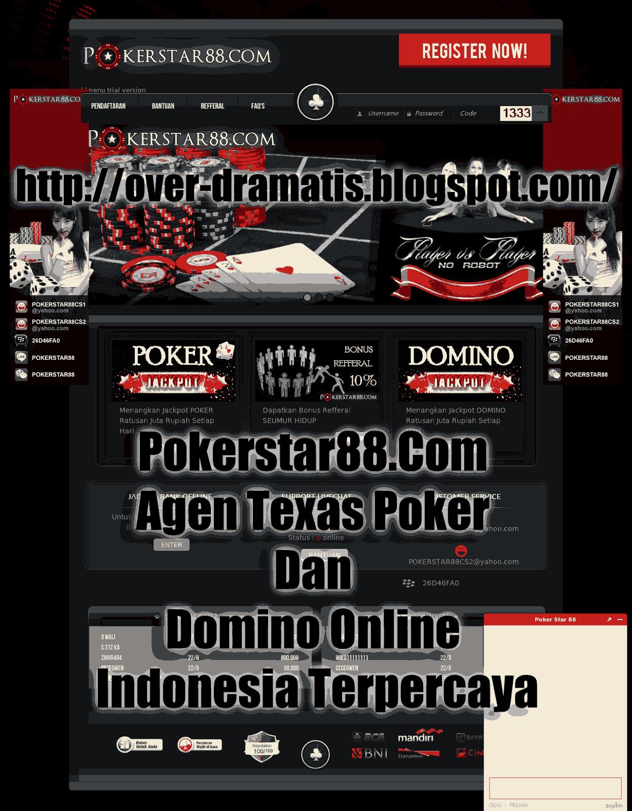 Situs POKERSTAR88 AGEN TEXAS POKER DAN DOMINO ONLINE INDONESIA TERPERCAYA tentunya sudah tidak diragukan lagi karena