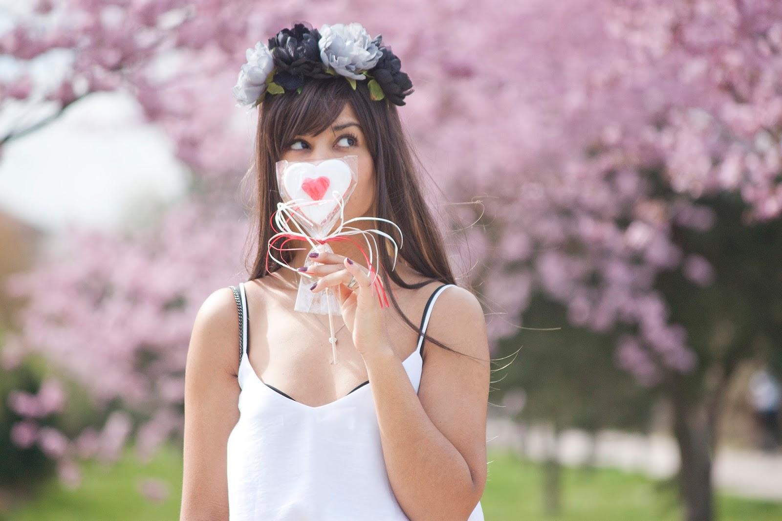fleurs rose printemps