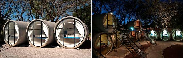 墨西哥州 Tepoztlán 酒店 和奧地利酒店的水管屋設計2