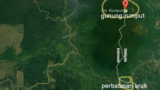 peta rute gunung sambas