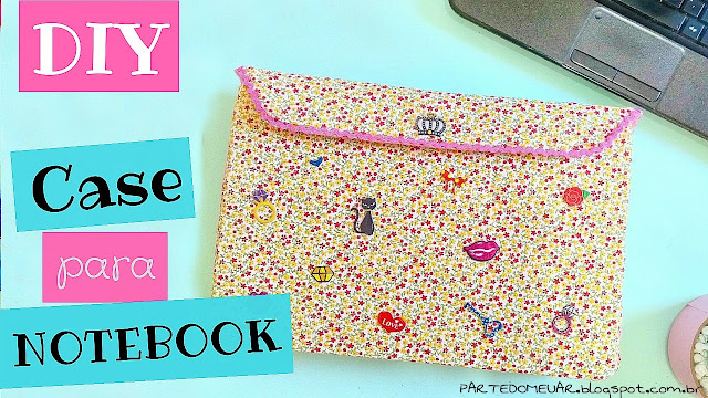 diy capa para notebook de papelão