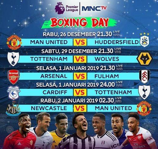 Jadwal Boxing Day Liga Inggris (Rabu, 26 Desember 2019) Pekan 19