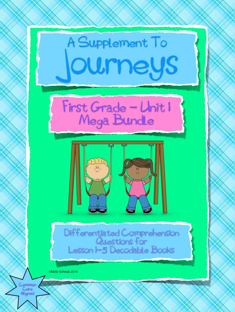 Journeys Differentiated Comprehension Mega Bundle Unit 1