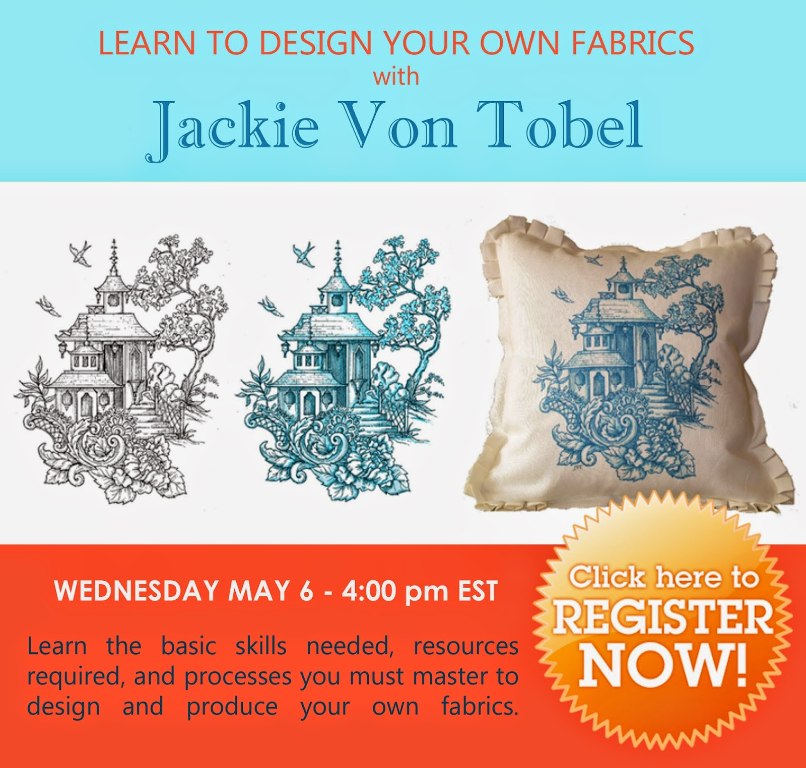 Jackie Blue Home: LEARN TO DESIGN YOUR OWN FABRICS