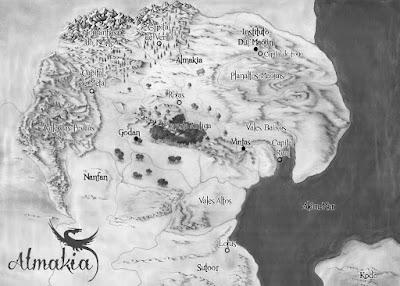 Mapa - Almakia - A Vilashi e os Dragões