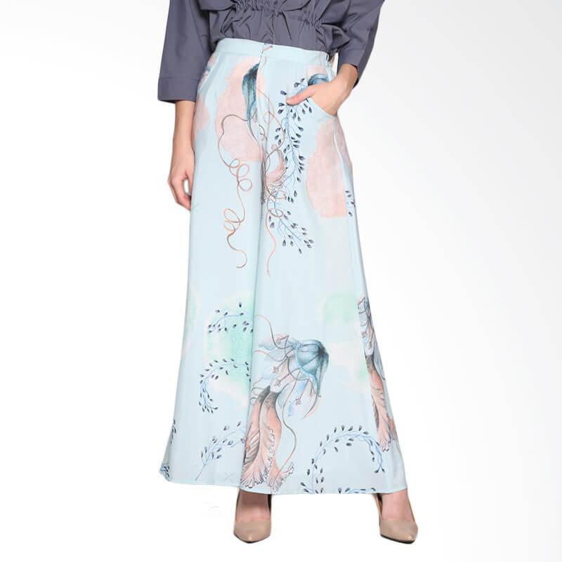 Ria Miranda Vivien Pants Muslim - Print jellyfish Mint Green