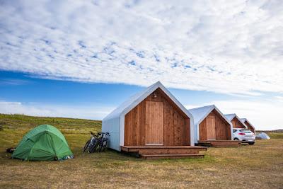 Ejemplo de zona de camping en Islandia